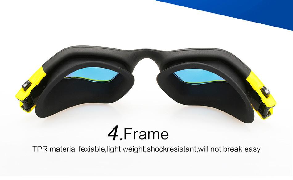 ᓂCopozz Pria Wanita cermin Kacamata Renang Anti-kabut Tahan Air ... d58d121201