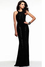 new fashion 2015 womens summer casual Jersey Sequin Trim o-neck floor-length Gown brief long Backless Dresses sexy dance wear(China (Mainland))