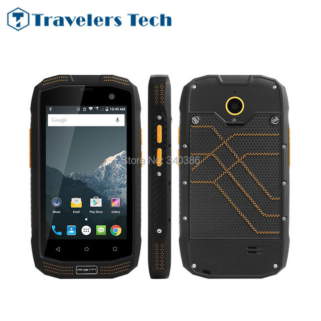 China Phone 4 inch 4G LTE IP68 Waterproof Mobile Phone AGM A2 Rio 2GB RAM 16GB ROM Rugged Smartphone Android NFC GPS GLONASS SOS