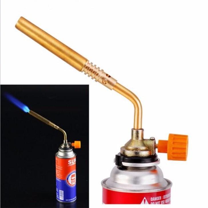 Outdoor Camping Bbq Brazing Gas Torch Lighter Flame Gun Kitchen