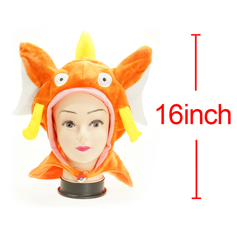 Anime Pokemon Pocket Monsters Magikarp Blue Gyarados  Pink Gyarados Plush Hat Cap Cute Doll Toys Cap Hat