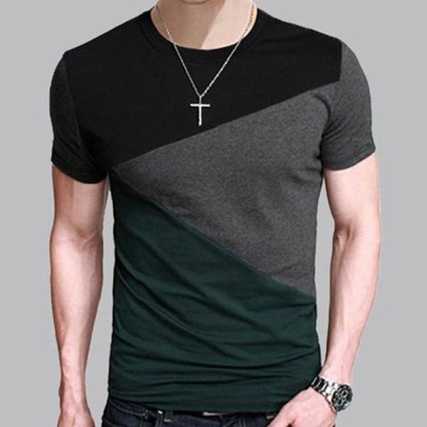 8 Designs Mens T Shirt Slim Fit Crew Neck T shirt Men ...