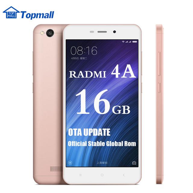 "Original Xiaomi Phone Redmi 4A red rice 4A 2GB RAM 16GB ROM Snapdragon 425 Mobile Phone 3120 typ mAh Battery 5.0"""