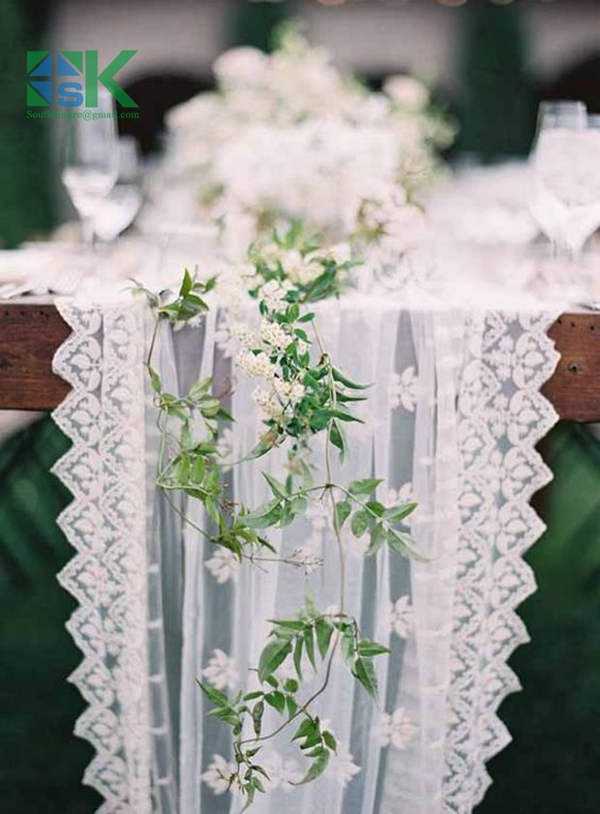 Terbaru kedatangan 10 Yard Banyak 9 cm larut air bunga bersih handmade diy  pakaian tepi kain renda bordir renda potong putih A2 5ddd409c0f