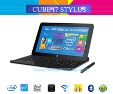 100% Original CUBE i7 Stylus Intel Core-M Windows 10 Tablet PC 10.6'' IPS 1920x1080 4GB RAM 64GB ROM 2.0MP+5.0MP Camera HDMI(China (Mainland))