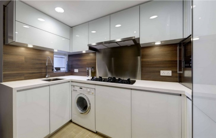 Paint High Gloss Lacquer Plywood Carcase Modular Kitchen Cabinets