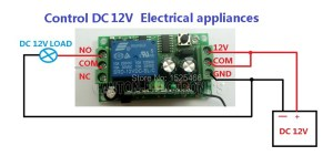 DC 12V 433M LED Wireless Remote Control Switch Relay