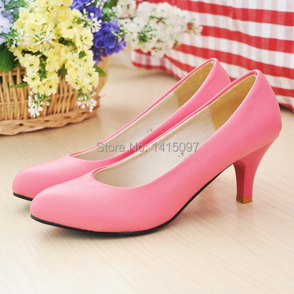 Low Pink Heels Tsaa Heel