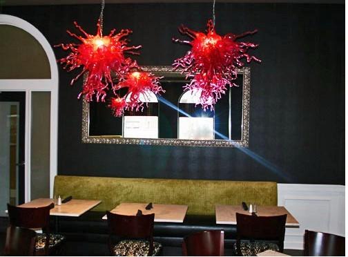 Hand Blown Glass Chandelier Hotel Decorative Light