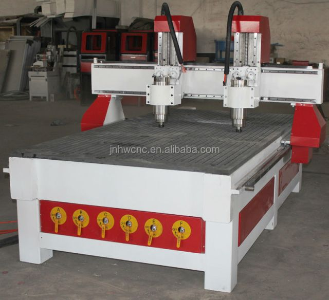 PVC wood cnc router prices cutting engraving router two heads cnc wood ...