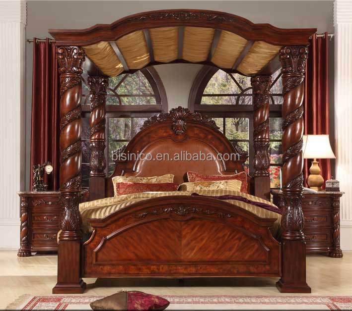 Bisini New Product Wood Bedroom SetSolid Wood Luxury King