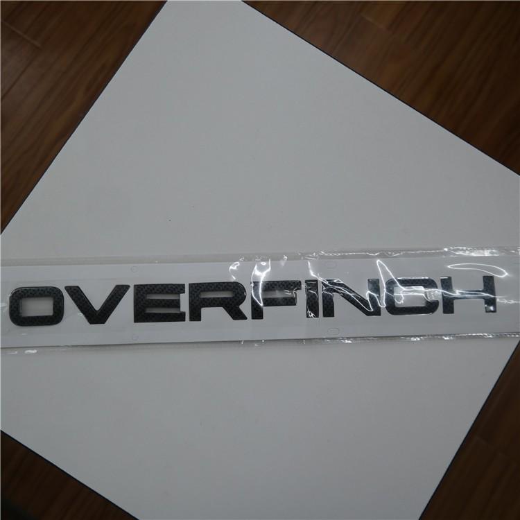 Overfinch Chrome Silver Car Badge Emblem Letter For Evoque