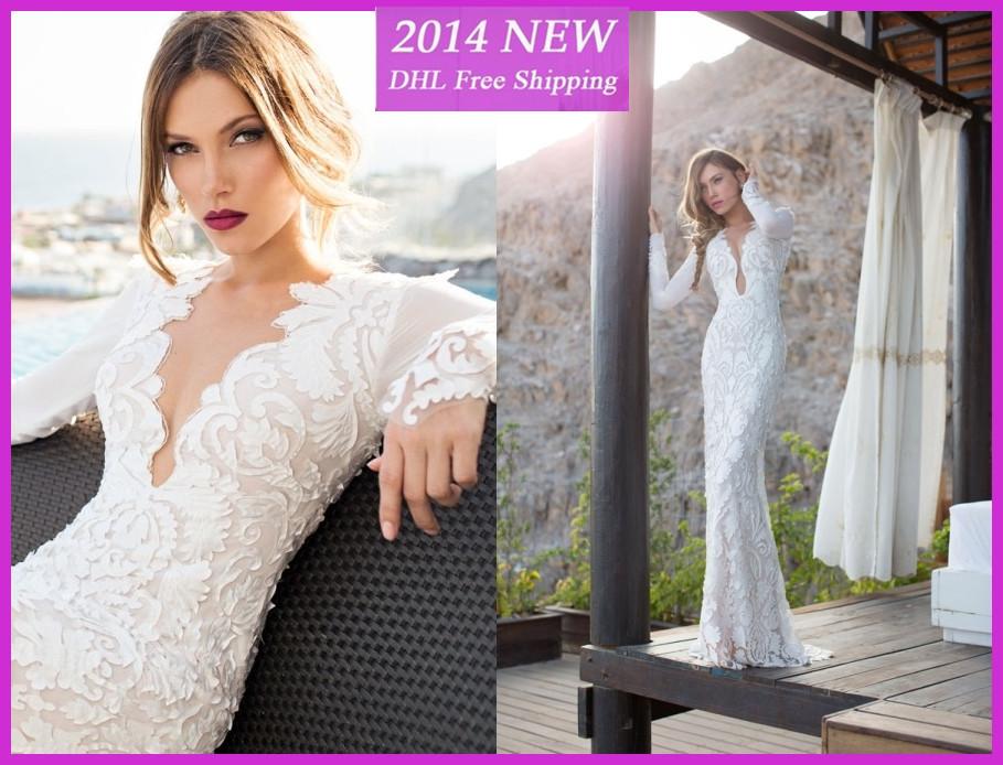 WE 50 Julie Vino Wedding Dresses 2014 Sexy Backless Deep V