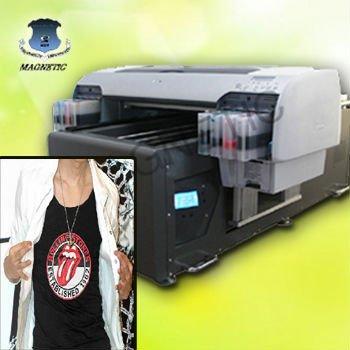 digital tshirt printing machine with white ink on ...