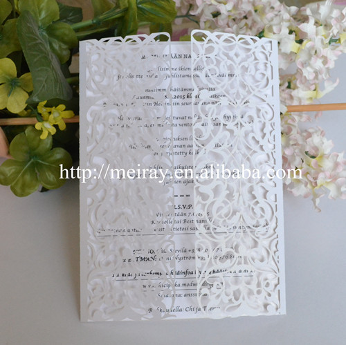 Inexpensive Laser Cut Wedding Invitations