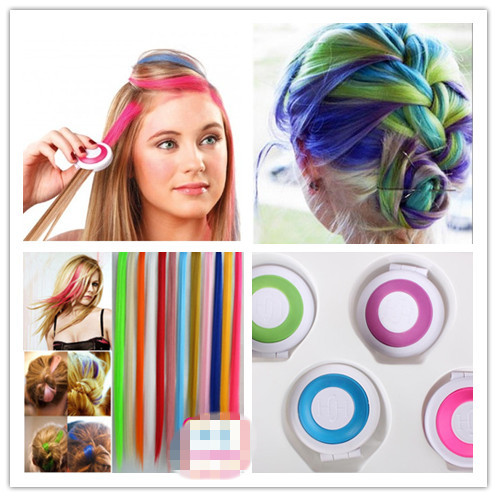 aliexpress 1 piece 2015 new temporary hair dye tool 4 colors hair chalk set party