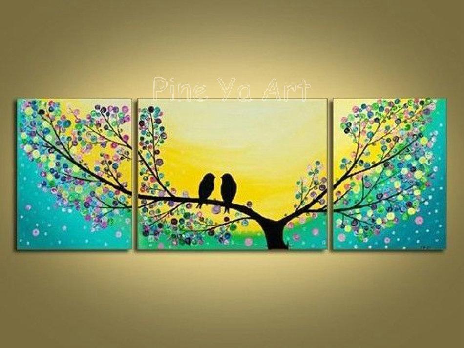 3 Piece Abstract Modern Canvas Wall Art Decorative Tree