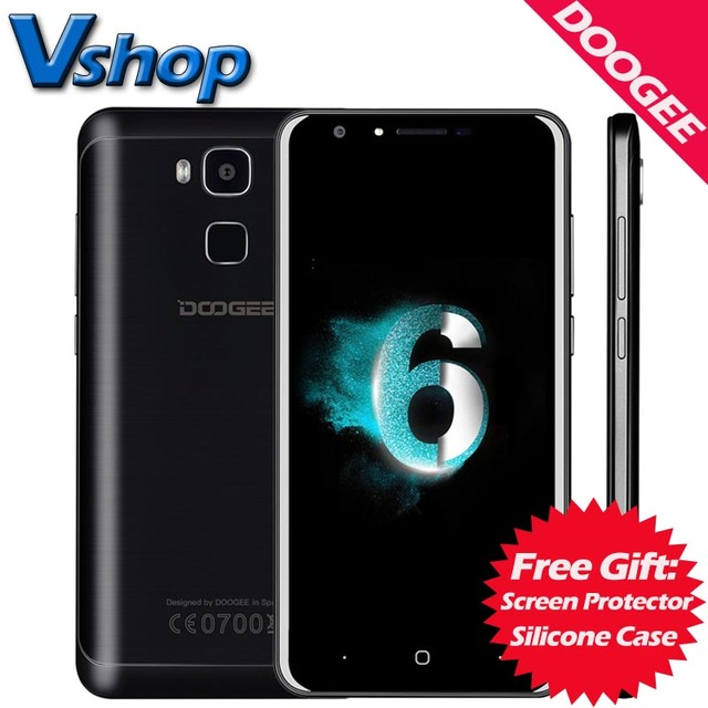 Original DOOGEE Y6 C 4G Mobile Phone Android 6.0 2GB RAM 16GB ROM MTK6737 Quad Core 720P 8MP Camera Dual SIM 5.5 inch Cell Phone