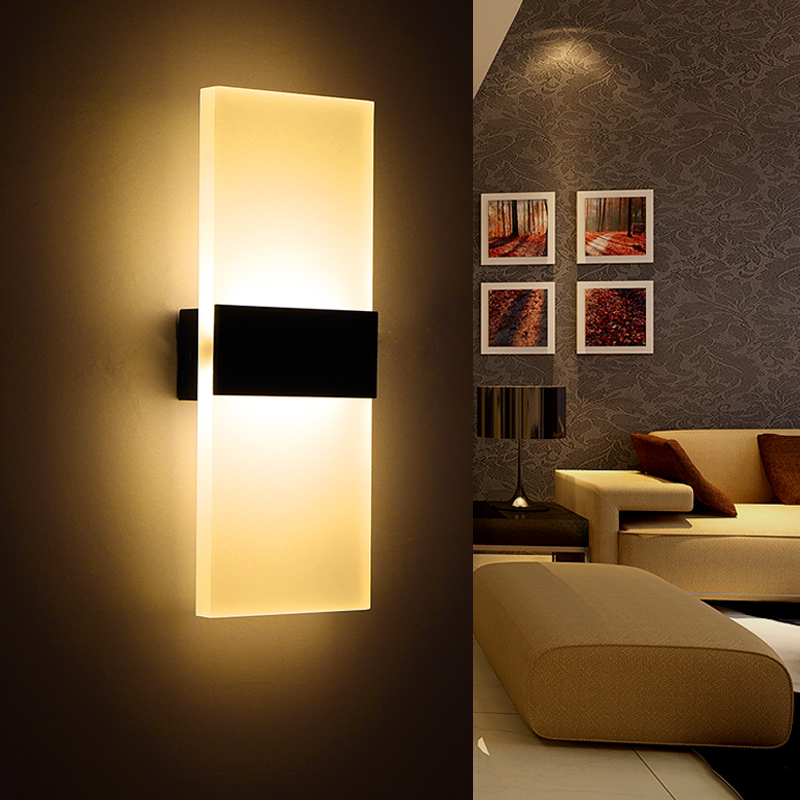 Modern Led Wall Lamp Acryl Bed Room Wall light Living ... on Wall Lighting For Living Room id=91973
