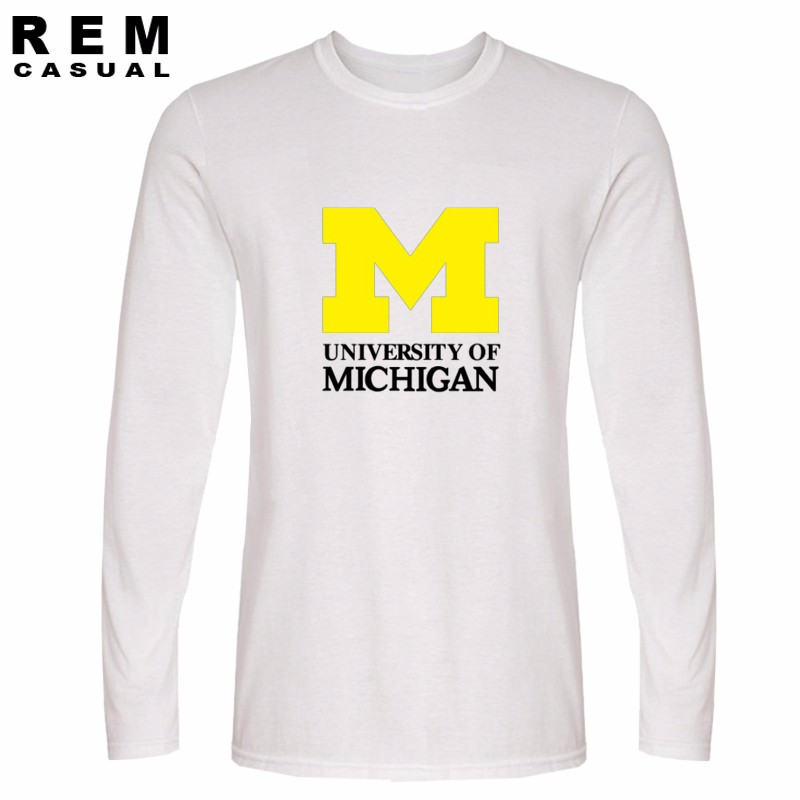 Composite Bats 2016 new Michigan University American college baseball s jersey clothing t shirt top man Long sleeve t shirt