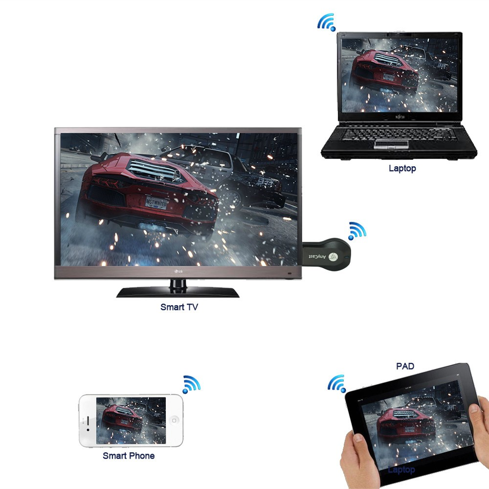 Anycast M2 Plus Airplay 1080p Wireless Wifi Display Tv Dongle Receiver Hdmi Stick Dlna Miracast For Smart Phones Tablet Pc