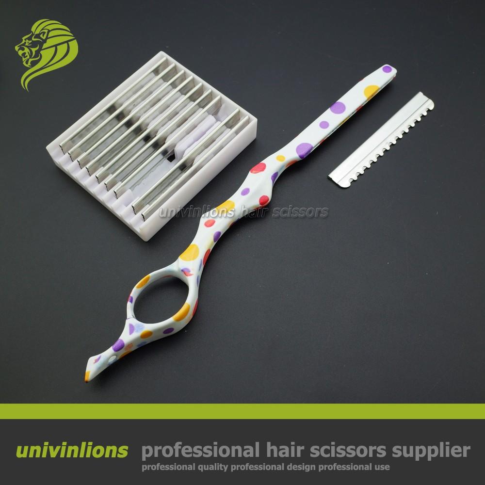 7 Sharp Pisau Tipis Desain Barbering Cukur Hairdressing Salon Kerik Lipat Dan Praktis Penata Rambut Gunting Razor Gaya Potongan