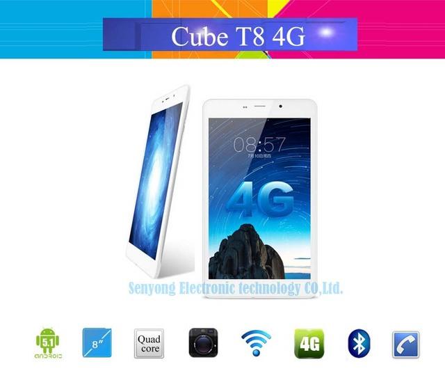 "Оригинал Cube T8 Ultimate 4 Г LTE Tablet PC 8 ""IPS 1920x1200 Android 5.1 MTK8783 Окта Ядро Телефон Call 2 ГБ RAM 16 ГБ ROM 5-МП КАМЕРОЙ"