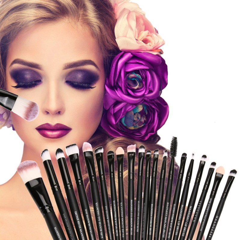 20Pcs Rose gold Makeup Brushes Set Pro Powder Blush Foundation Eyeshadow Eyeliner Lip Cosmetic Brush Beauty Make up Brushes Tool