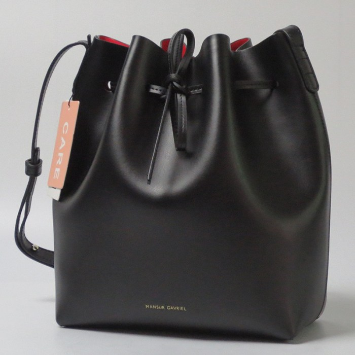 0b58035af98f 100 Calf Leather Mansur Gavriel Leather Bucket Bag Handbags Women ...