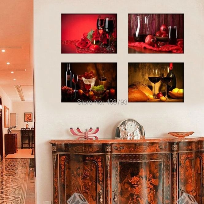 European Style Prints Painting Aabstract Oil On Canvas Wall Art Home Decoration The Western Restaurant Picture