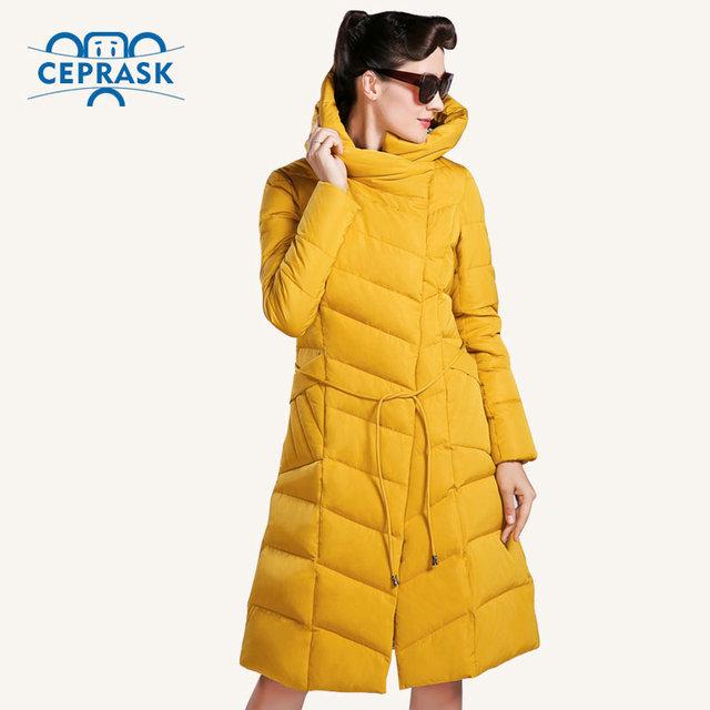 CEPRASK 2016 Высокое Качество Зимняя Куртка Женщин Плюс Размер Длинные Модные женские Зимние Пальто С Капюшоном Теплый Пуховик Parka 4XL