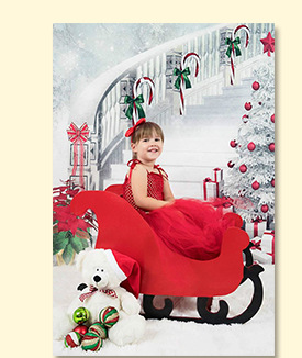 5X7Ft קייט חג המולד תפאורות צילום לבן שלג קופסא מתנת סטודיו לצילום ילדים לבן הסולם קפואות שלג רקע