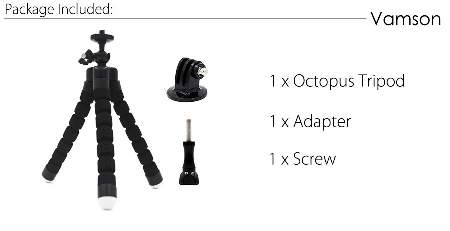 GoPro Accessories Flexible Mini OctopusTripod With Screw