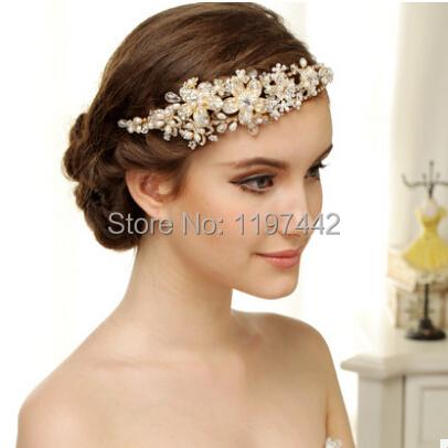 aliexpress the most beautiful handmade bridal hair accessories vintage gold headbands