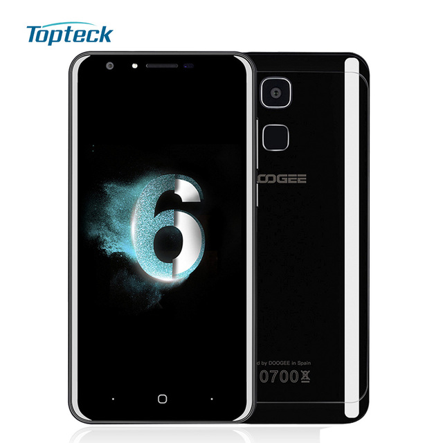 "DOOGEE Y6 Piano Black 4GB+64GB 4G Fingerprint 5.5"" Smartphone Android 6.0 MTK6750 Octa Core Cellphone 13MP 3200mah Mobile Phone"