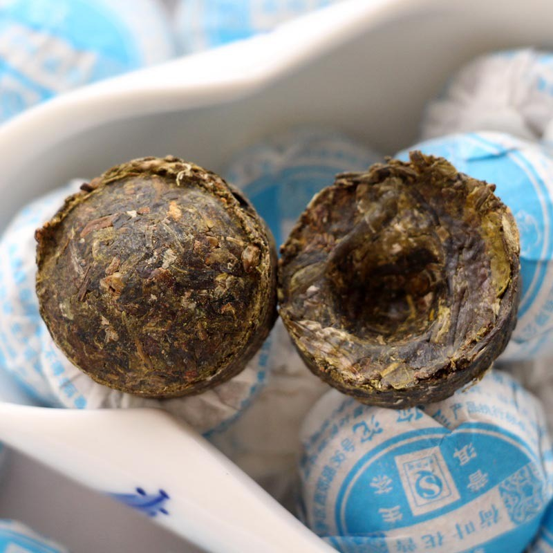 Lotus-Leaf-Puer-Tea-Chinese-raw-Yunnan-Ansestor-Antique-Honey-Sweet-Dull-Red-Puerh-Tea-Raw