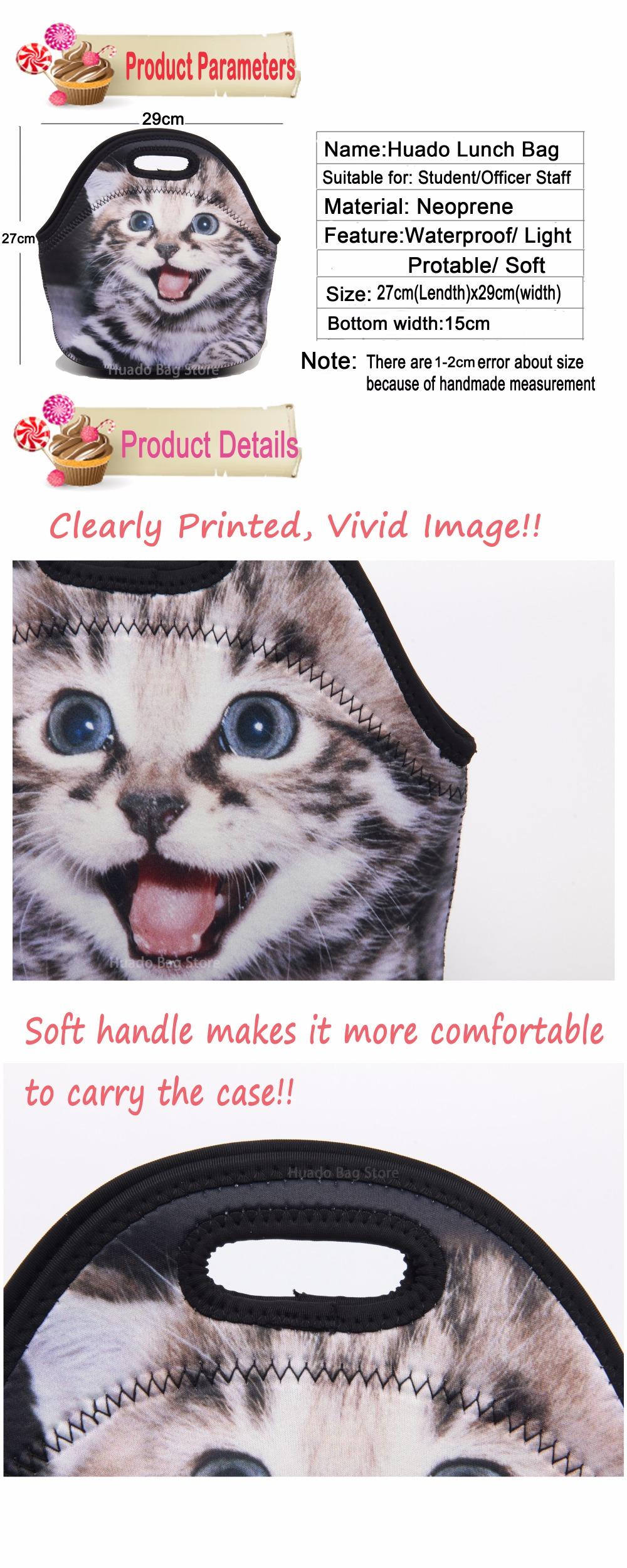 Portabel Kartun Lucu Kucing Makan Siang Tas Piknik Terisolasi Peeredam Guncangan Motor Smash Titan Ukuran 15cm Sepasang 1