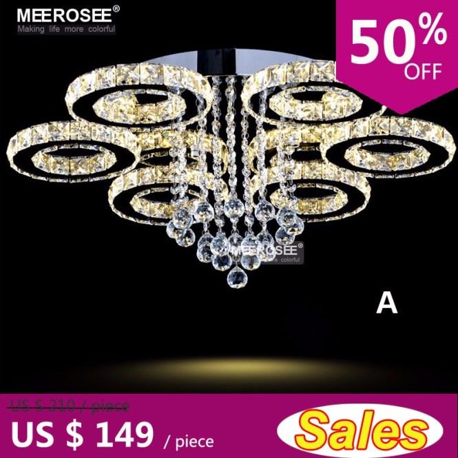 Led Chandeliers Modern Stainless Steel Crystal Light Room Kroonluchter Hanging Lamps 4 Rings Diy Design Diamond Chandelier
