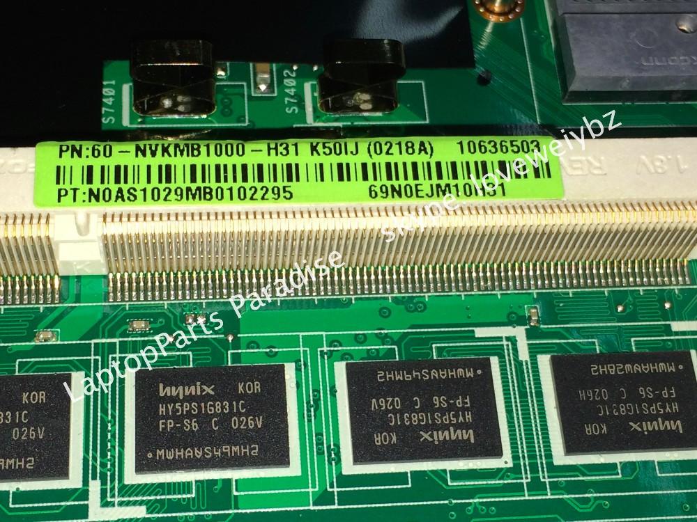 מותג חדש עבור Asus K50IJ Rev 2.1 Rev 2.3 מחשב נייד לוח Mainboard