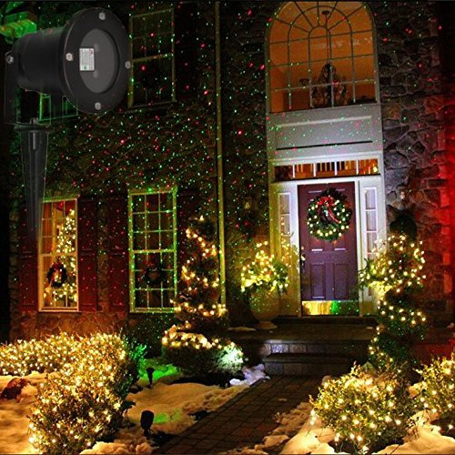 Outdoor waterproof elf christmas lights green red laser projector 222 workwithnaturefo