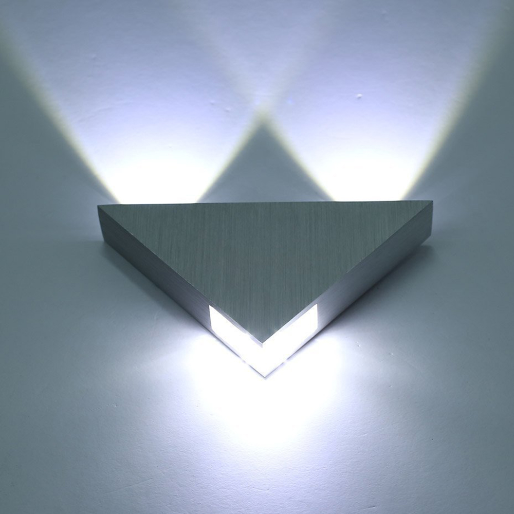 Tanbaby Aluminum Modern Wall Sconce Triangle Designed 3w ... on Led Interior Wall Sconces id=68067