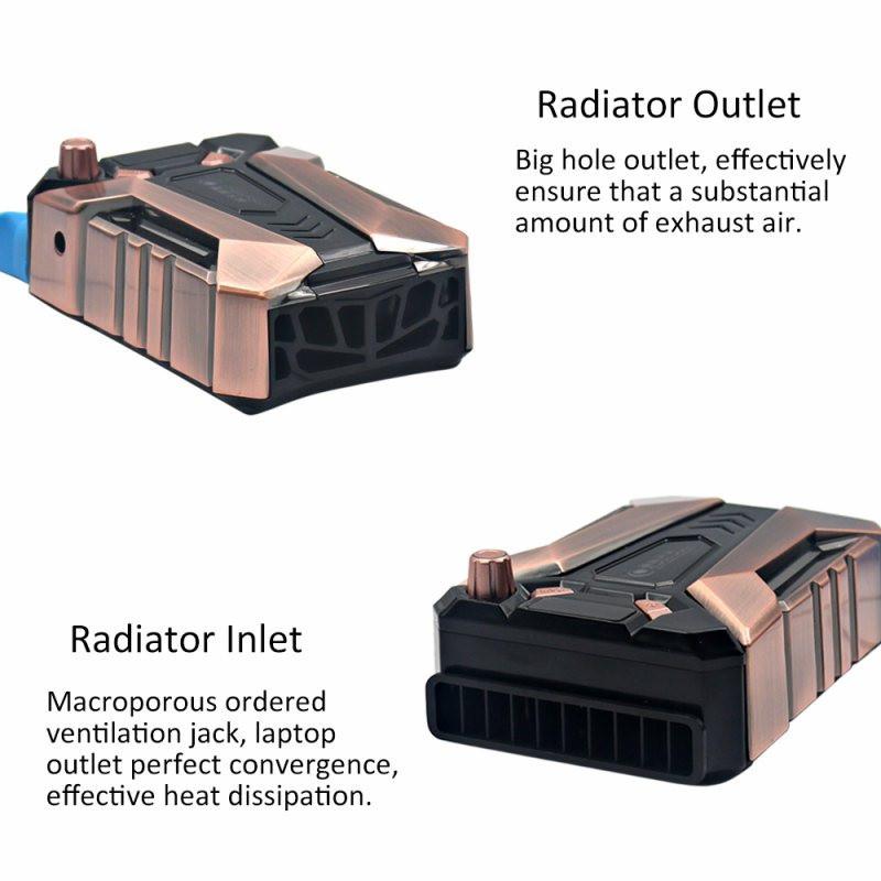 מגניב קר צג LCD מהירות מתכווננת מיני נייד מחשב נייד מגניב רדיאטור המחברת רעש נמוך USB אוויר חילוץ מאוורר קירור