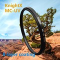 KnightX 52mm סיים את צבע אפור כחול ND העדשה מסנן עבור ניקון Nikon D7000 D5100 D5000 D3100 D3000 18-55mm 2015 החדשה