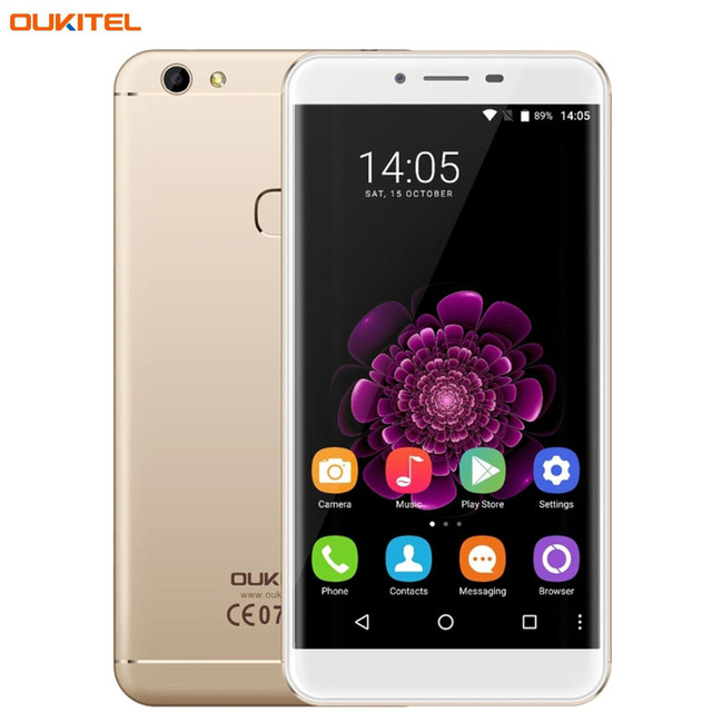 OUKITEL U15S 32GB/4GB Fingerprint Identification 5.5'' 2.5D Arc Android 6.0 MTK6750T Octa Core 4 x 1.0GHz+4 x 1.5Ghz Cell Phones
