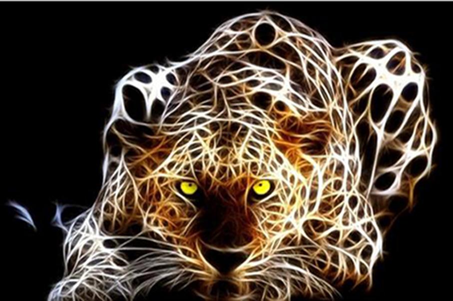 Cheetah Abstract Painting
