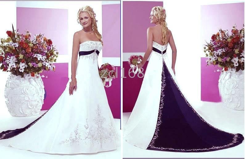 New Fashion Blue Purple White Red Accent Color Embroidery