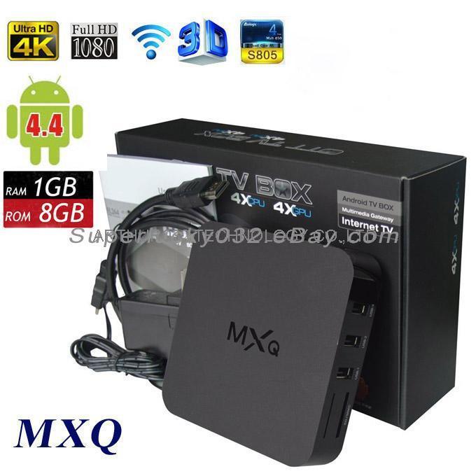 Xbmc Kodi установлен MXQ Amlogic S805 четырехъядерных процессоров умный мини-пк андроид Box TV 1 г 8 г Miracast DLNA H.265 / HEVC андроид 4.4 kitkat 4 К Цена: 36.54 EUR