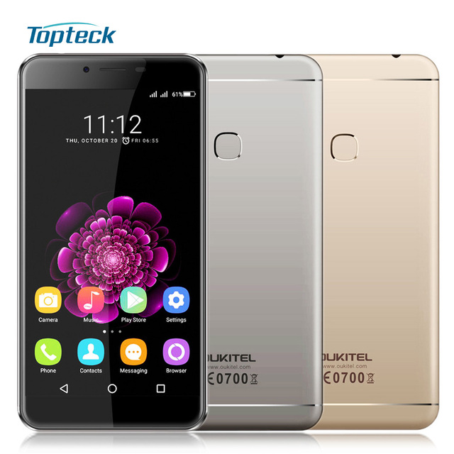 """In Stock OUKITEL U15S 4G 5.5"""" 1080*1920 Fingerprint 4GB+32GB 16MP Smartphone Android 6.0 MTK6750T Octa Core 1.5GHz Mobile Phone"""