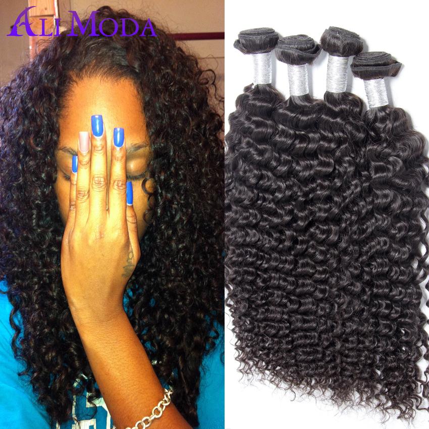 Cheap Virgin Curly Hair Ali Moda Hair 4pcslot Brazilian