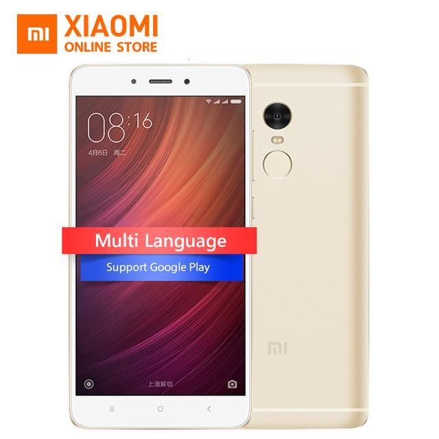 Original Xiaomi Redmi Note 4 MIUI 8 Mobile Phone 3GB RAM 32GB MTK Helio X20 Deca Core 5.5-inch 1080P 13.0mp Fingerprint